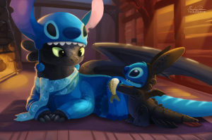 stitch_and_toothless_by_tsaoshin-d7i57wg